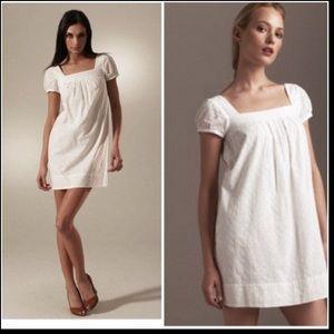Vince white eyelet babydoll mini dress